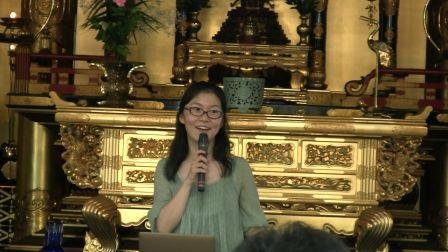 講演会では、尾角さんが進行してやわらかい関西弁でのお話の様子