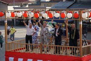 お祭りの開会には、高山市長も駆けつけられました。