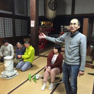 浄願寺の岡本立志ご住職。劇団23の皆さんをご紹介していただきました。推進員養成講座のアフターとして注目の事例です