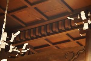 天井の支輪 縮小
