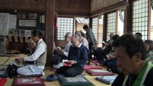 光徳寺で勤行。調声は佐竹教導です。