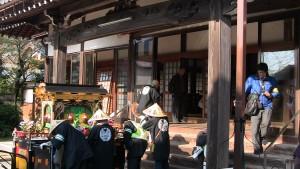 三日目の最初の会所、妙琳寺に到着。