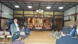 鯖江市の本法寺にお立ち寄り。