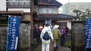 小松晧道さんのお宅に立ち寄ります。