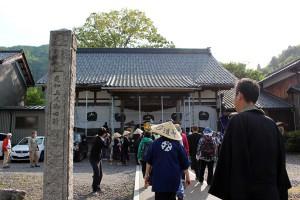 無事に浄念寺に到着。皆さまおつかれさまでした。