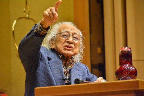 しんらん交流館公開講演会 100歳のジャーナリスト むのたけじさん(2015年11月21日)