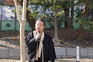 荘川桜植樹式・小原正憲委員長