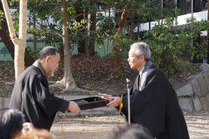 荘川桜植樹式・感謝状授与