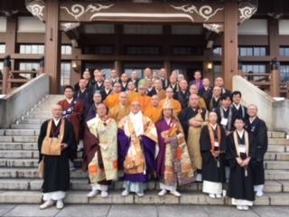 自死者追悼法要いのちの日命の時間の宗教者たち・名古屋別院にて