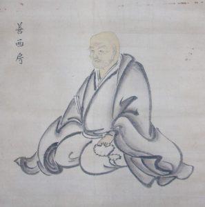 善西肖像画(歯黒啓二家所蔵)-すばる